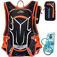 Besporter per bicicletta, impermeabile, adatto per escursionismo e alpinismo-Zaino con sistema di idratazione, 2 l, capacità Zaino per sacca d'acqua - Arancione Saddle