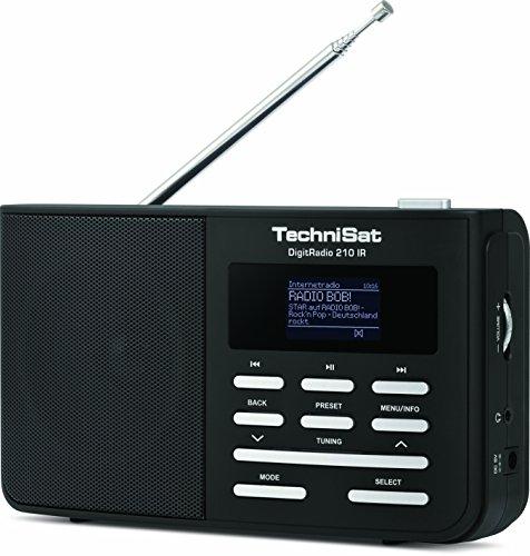TechniSat DigitRadio 210 IR(tragbares DAB+/UKW & Internetradio) schwarz