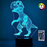 SOKY Geschenke für Jungen ab 3-10, Weihnachts 3D Dinosaurier Nachtlicht Spielzeug für Kinder 2-10...