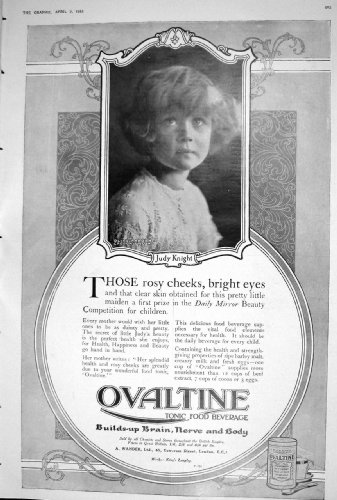 1923-photographie-tonique-du-chevalier-adveritsement-de-judy-de-boisson-de-nourriture-dovaltine
