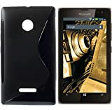 Microsoft Lumia 532 / Microsoft Lumia 532 Dual SIM Silikon Schutzhülle Hülle Tasche (Matt Schwarz)