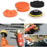 7Pcs 3/4/5in Car Polisher Pads, Sponge Polishing Buffer Pad Set with M10 Drill Adapter and Sucker by Leoie