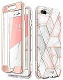 i-Blason Coque iPhone 8 Plus Coque iPhone 7 Plus, Coque Complète Marbre Anti-Choc...