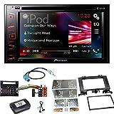 Pioneer AVH-290BT Bluetooth USB DVD Autoradio Moniceiver Touchscreen Einbauset für Mercedes Sprinter W906 Crafter