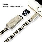 Vanctec Speicherkarte Reader, iPhone Micro SD Kartenleser, 2in1 Lightning USB Kabel Adapter für iPhone 5/6/7 iPad Mini Air Pro mit Externem Speicher Micro SD Kartenleser (nicht Enthalten SD Karte)