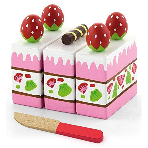 Viga - Pastel de fresa de juguete - Madera