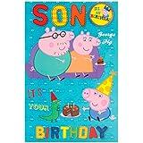 Peppa Pig–Tarjeta de cumpleaños con chapa