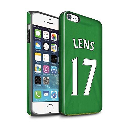 Offiziell Sunderland AFC Hülle / Glanz Harten Stoßfest Case für Apple iPhone 5/5S / Pack 24pcs Muster / SAFC Trikot Away 15/16 Kollektion Lens