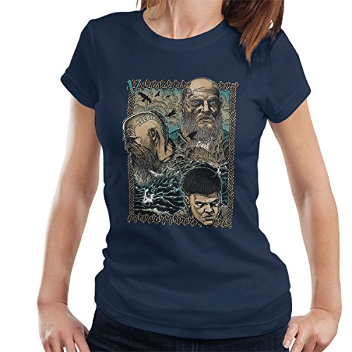 Vikings Legacy Love Legend Boja Women's T-Shirt Navy blue