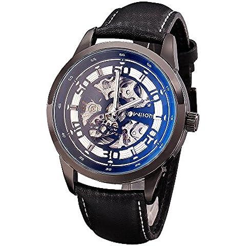 qiyan Fashion Casual Luxury Sport hombres reloj automático azul