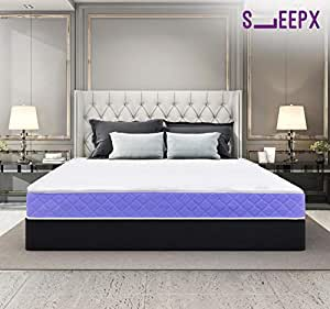 SleepX Ortho Cool Gel Memory Foam Mattress, Double Bed Size (72x48x6)