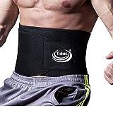 Tdas Sweat Slim Belt for Men Women Waist Trimmer Stomach Belt Shaper Fitness