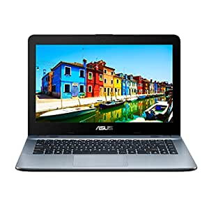 ASUS X441SA-WX152T VivoBook 14-inch HD Notebook (Silver) - (Intel Dual-Core Celeron N3060 Processor, 4 GB RAM, 1TB Hard Drive, Windows 10, Bluetooth 4.0, Webcam)