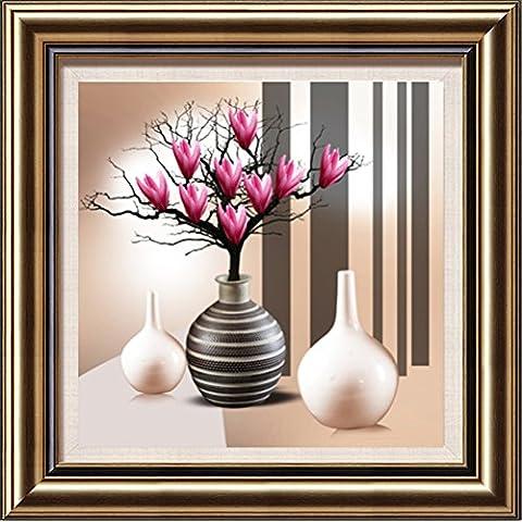 ytg 5d Diamond (bordado mosaico parte de diamante Magnolia 60* 60imagen 3d DIY Diamond pintura lienzo de costura decoración del hogar lienzo regalo, Magnolia-1,