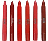 #9: New ADS Crayon Lipstick (Set of 6) - all different red,pink,brown shades S1