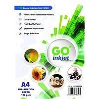 100 hojas A4 de papel de sublimación, para prensa de calor, camisetas, tazas, marca GO Inkjet