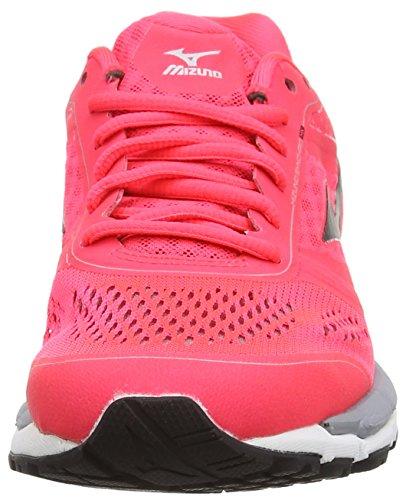 Mizuno Synchro Mx, Chaussures de Running Compétition femme Rose (Diva Pink/Black/Silver)