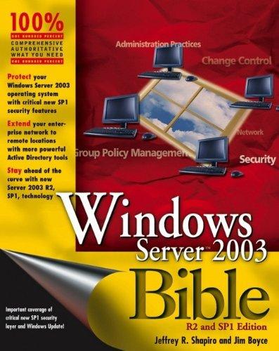 Windows Server 2003 Bible by Jeffrey R. Shapiro (2006-03-13) par Jeffrey R. Shapiro;Jim Boyce
