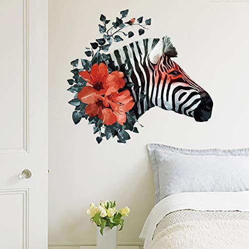 Wohnzimmer Schlafzimmer Aufkleber Stilvolle Einfache Zebra-Wand-Aufkleber Zimmer Dekoration Wandmalerei (Zebra-zimmer-dekorationen)