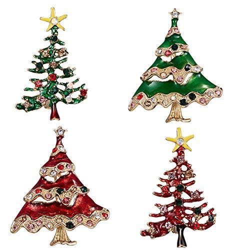 osche einfache Weihnachtsbaum Schal Schal Clip Pin Dekoration (4 * Brosche) ()
