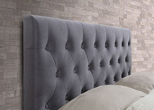 Happy Beds Cologne Grey Fabric Bed Frame Only 5' King Size 150 x 200 cm