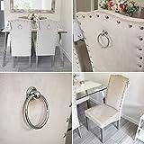 Generic Set von 2Qualität knockerback Samt Stühle–Esstisch, Küche, Stühle 2 cremefarben
