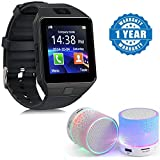 Captcha Sony Xperia C5 Ultra Dual Compatible Certified DZ09 Bluetooth Phone Smart Watch Phone with Professional Smart Activity tracker with Wireless LED Bluetooth Speaker USB Plug & Play - FM Radio ( 1 year warranty )