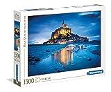 Clementoni - 31994 - Puzzle Collection High Quality 1500 pièces - Le Mont Saint-Michel