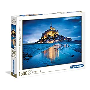 Clementoni 31994.7 Clementoni-31994-High Quality Collection-Le Mont Saint Michel-1500 Pieces, Multicolored