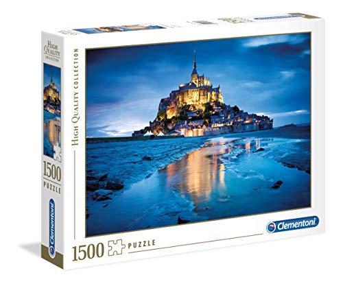 Clementoni-Le Mont St.Michel di Notte High Quality Collection Puzzle, 1500 Pezzi, 31994
