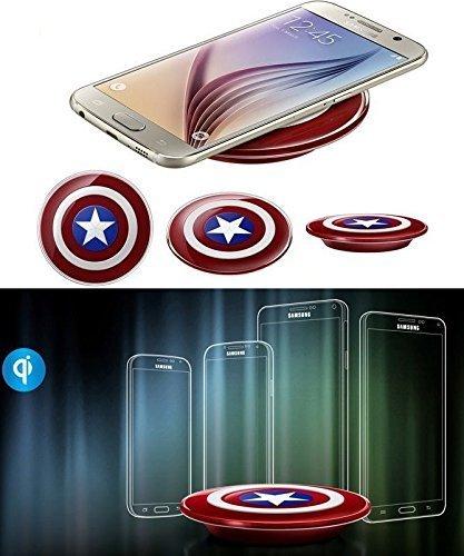 Tech Corp Captain America DE Drahtlos Wireless Induktive Ladestation/Ladegerät für Samsung Galaxy S7/S7 Edge Note 5 - 6