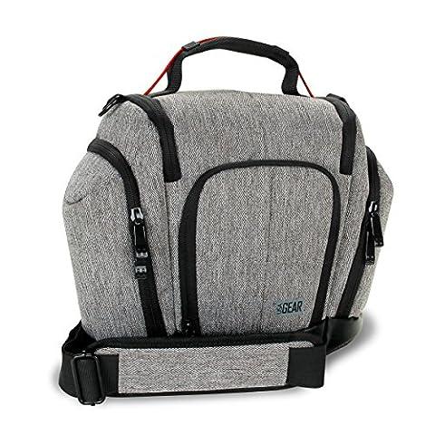 UTX Kompakte Fototasche für Digitale Kameras / DSLR Kameratasche / Tasche für DSLR Spiegelreflexkameras wie Canon 700D 80D Nikon D5300 D7200 Sony Alpha 68 Leica Fujifilm Olympus Samsung und