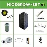 Growset 80 Airontek Komplettset Secret Jardin LED 78W (1x Wuchs 2x Blüte)