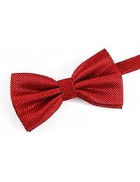 Bo&Pao Pajaritas Corbata De Moño Corbatas de Lazo, 100% poliéster, Diferentes colores
