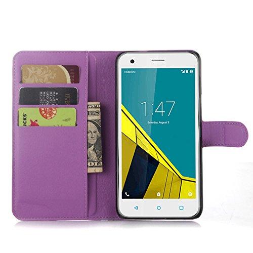 Tasche für Vodafone Smart Ultra 6 Hülle, Ycloud PU Ledertasche Flip Cover Wallet Case Handyhülle mit Stand Function Credit Card Slots Bookstyle Purse Design lila