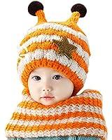 DAYAN 2 Stck Baby Kinder Mädchen Jungen Mützen Schals Baby Winterset Mütze / Schal / warmen Winter Hut + Schal-Baby-Set