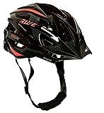 Awe® Aerolite casco bicicletta, colore: Nero/Rosso, taglia 56–58cm