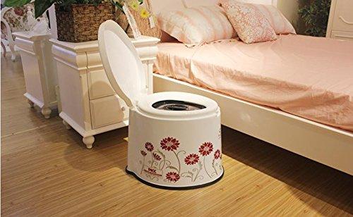 SIZLL Sedile WC per le donne anziane lo spostamento WC sedia del potty nei pazienti anziani con servizi igienici WC portatile in plastica semplice , 2