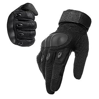 AVSUPPLY Taktische Handschuhe Motorrad Handschuhe Herren Vollfinger für Airsoft Militär Paintball Downhill Fahrrad und Andere Outdoor Aktivitäten(Schwarz, XL)