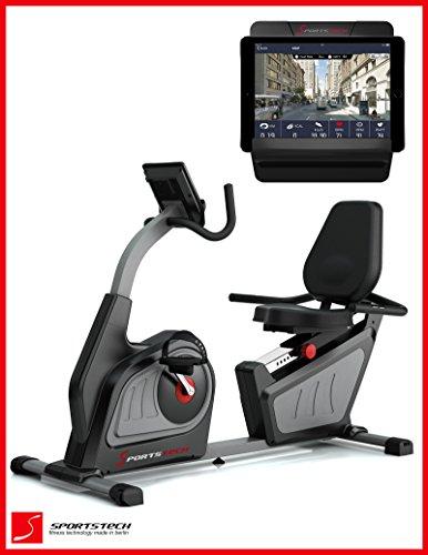 Sportstech ES600 Profi Ergometer mit APP Steuerung & integriertem Stromgenerator + Pulsgurt, HRC, optimalen ergonomischen Sitzkomfort