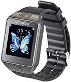 simvalley Mobile Telefon Uhr: Handy-Uhr/Smartwatch mit Kamera, Bluetooth 4.0, iOS & Android (Kamera Armbanduhren)