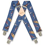 "Mens 50mm(2"") Wide Brimarc Trouser Work Heavy Duty Braces Blue Hand Tools"