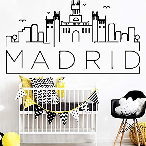 Heißer Verkauf Madrid Art Vinyl Wandaufkleber Abnehmbare Vinyl Tapetenaufkleber Für Wohnzimmer Schlafzimmer Dekoration Blau L 42 cm X 76 cm