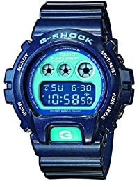CASIO G-SCHOCK DW-6900CC-2ER - Reloj digital de cuarzo con correa de resina para mujer, color azul