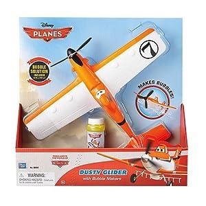 Planes - Dusty avión, vuela y hace pompas, 28 cm (Mondo 25124)