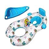 Asosmos Mode Baby Kinder kleinkind Schwimmreifen Schwimmsitz Schwimmhilfe Schwimmring Aufblasbares Kinderboot Schlauchboot mit Sonnendach Schwimmen Kreis Aufblasbare Sicherheit Schwimmen Ring Schwimmer Sitz in See Meer Schwimmbad für Baby Kinder von 1-3 Jahre
