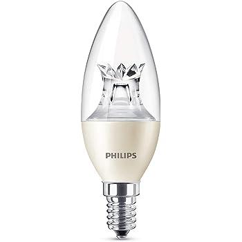 Philips bombilla LED vela, 6 W equivalentes a 40 W en incandescencia, casquillo E14