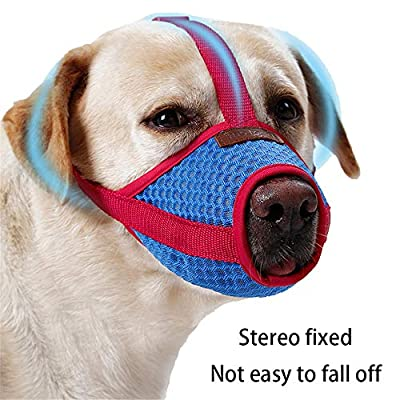GFEU Adjustable Breathable Dog Muzzles To Prevent Biting Barking Chewing Eating by GFEU