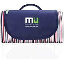 MIU COLOR® Foldable Large Picnic Blanket - Waterproof and Sandproof, Camping Mat for Outdoor Beach Hiking Grass Travelling - 2 Layers 200cm x 145cm