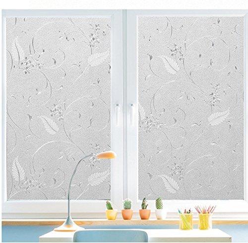 Bloss Statische Fenster Filme perfekt für WC-Schlafzimmer sittingroom Küche Glas Aufkleber Schutz der Privatsphäre Lace